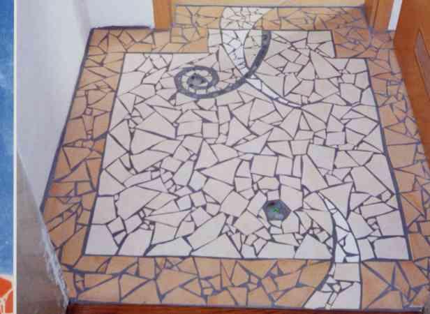 Malerei Lucia Grün - Alte mosaik fliesen
